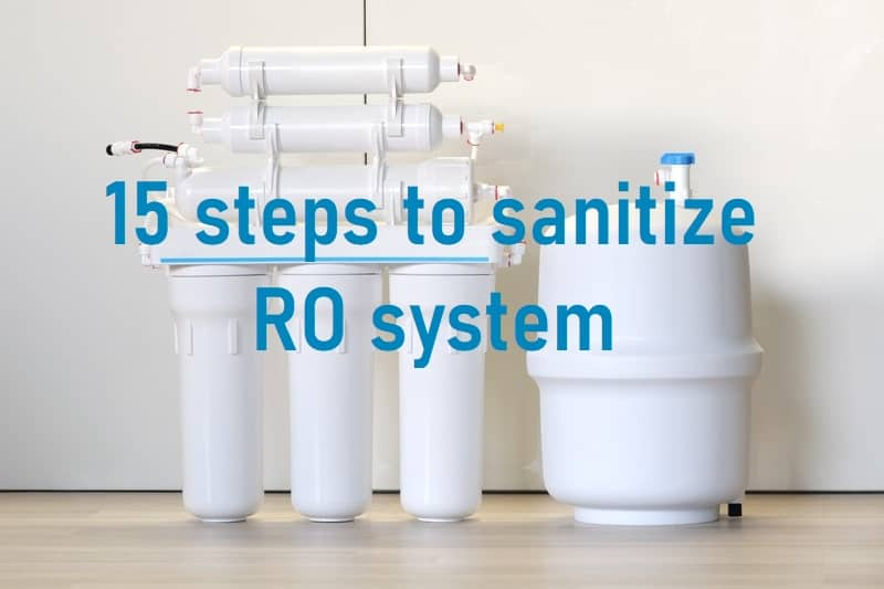 sanitize reverse osmosis system