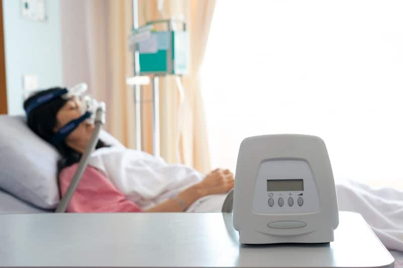 CPAP Machines with distilled water inside