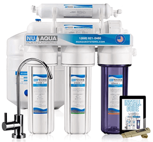 NU Aqua Platinum Series Deluxe High Capacity whole house reverse osmosis filters